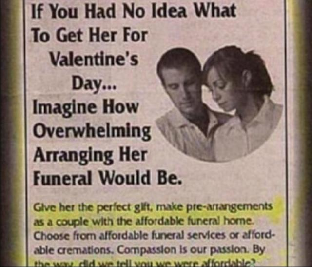 funeral for valentines day